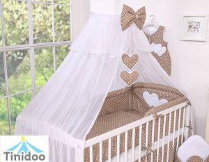 parure de lit bébé marron