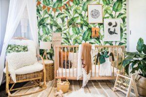 chambre bébé décoration tropicale et exotique