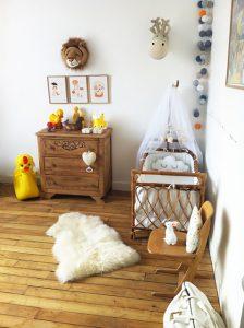 chambre bébé de style vintage