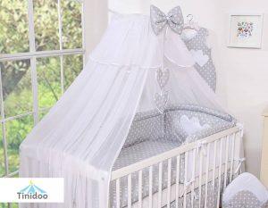 ciel de lit bébé pour lit 60x120cm