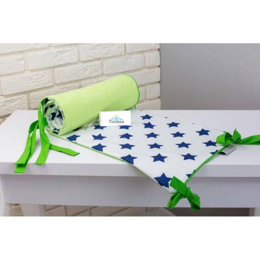 tour de lit étoiles bleu pour berceau