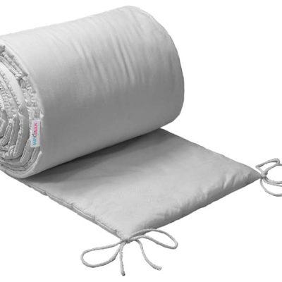 tour de lit pour berceau, couleur gris