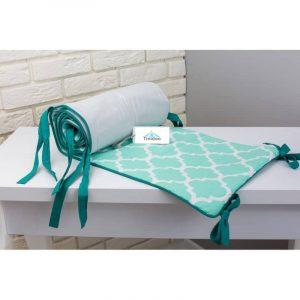 tour de lit pour berceau (vert)