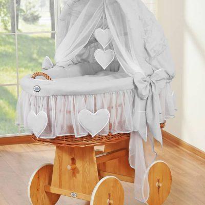 berceau osier naturel pour bébé