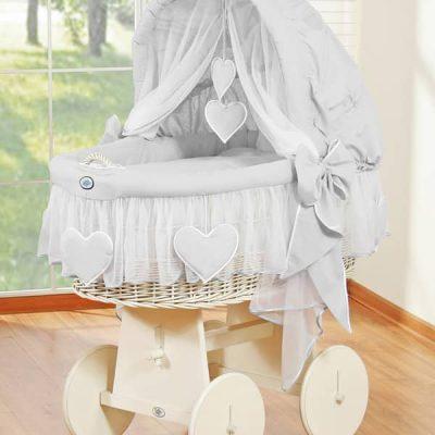 berceau bébé en osier blanc