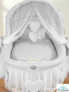 parure de lit pour berceau en osier