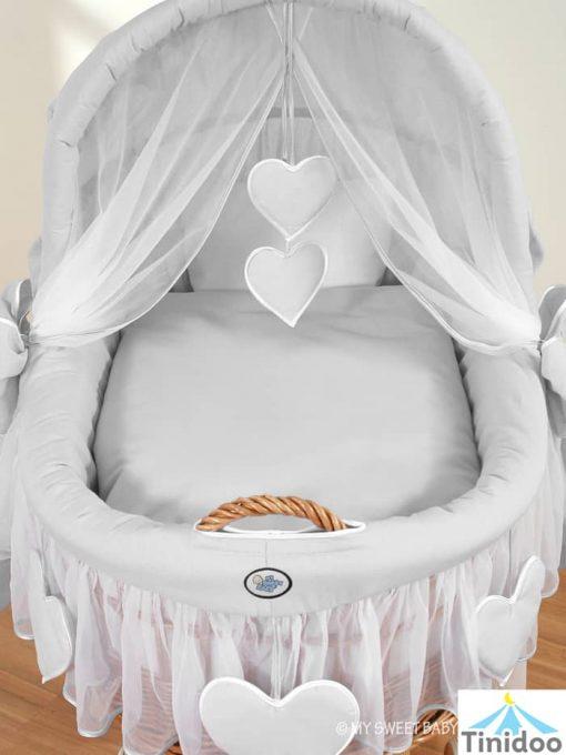 lit bébé en osier, avec capote
