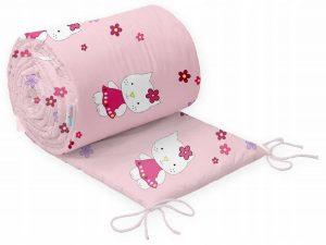 tour de lit por berceau bébé, thème chat