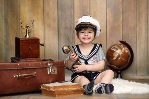 valise en cuir vintage