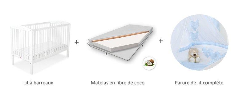 lit de bébé 60 x 120 complet
