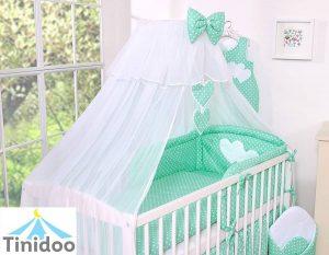 parure de lit vert menthe
