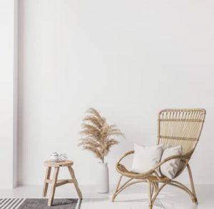 chaise élègante en osier
