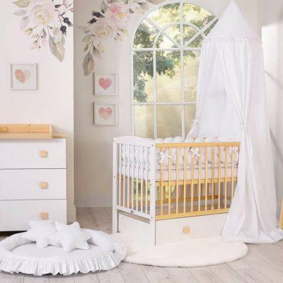 chambre bébé blanc naturel