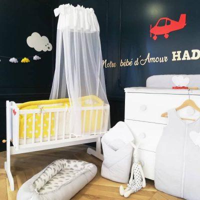 chambre bébé de garçon déco nuage et avion