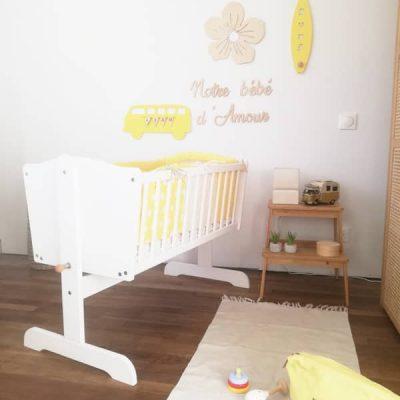 berceau bébé pour fille (jaune)