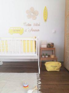 chambre bébé fille très tendance