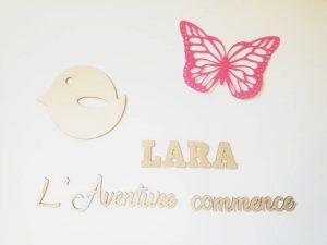déco murale papillon pour chambre bébé
