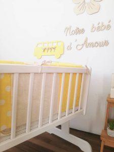 décoration murale pour chambre bébé (van)
