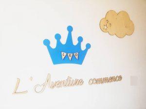 décoration murale prince pour chambre bébé garçon