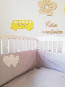 tour de lit gris pour lit cododo