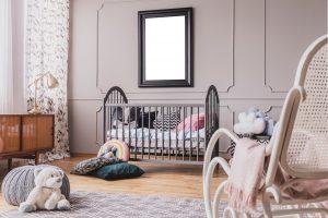 Chambre bébé tendance avec déco vintage