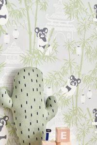 papier peint dessin panda pour chambre bébé