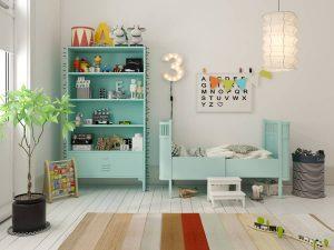 végétation dans la chambre enfant